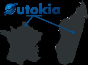 Illustration avec carte de la France et carte de Madagascar pour la situation Outokia
