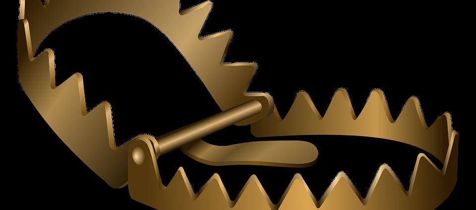 Pièges symbolisant les erreurs à éviter lors de la rédaction de contenu web